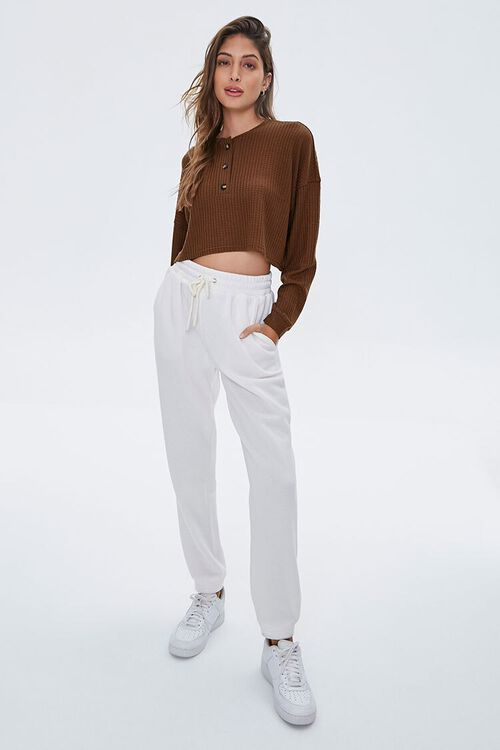 Waffle Knit Henley Top, image 4