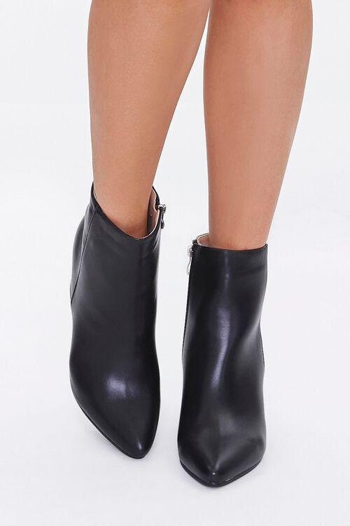 Faux Leather Block Heel Booties, image 4