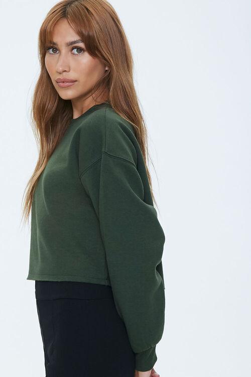Fleece Drop-Sleeve Sweatshirt, image 2