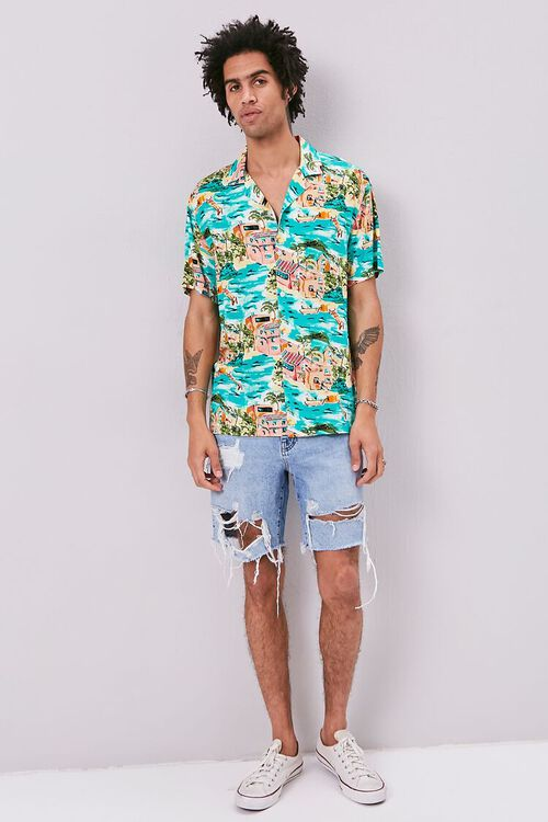Classic Fit Tropical Print Shirt, image 4