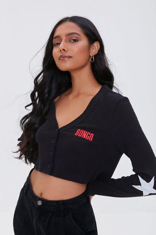 Embroidered Bongo Cardigan Sweater, image 1