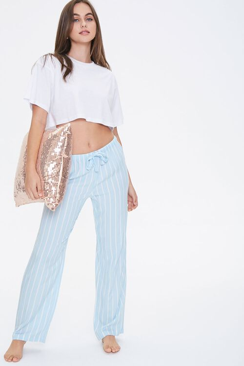 Pinstriped Pajama Pants, image 1
