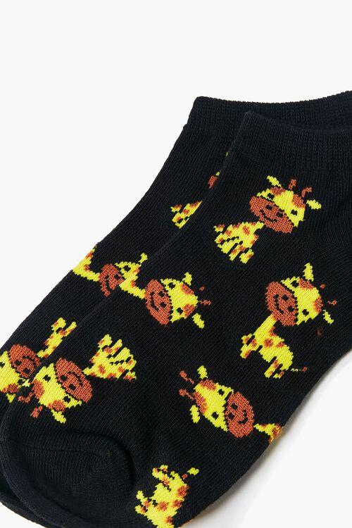 BLACK/MULTI Giraffe Ankle Socks, image 3
