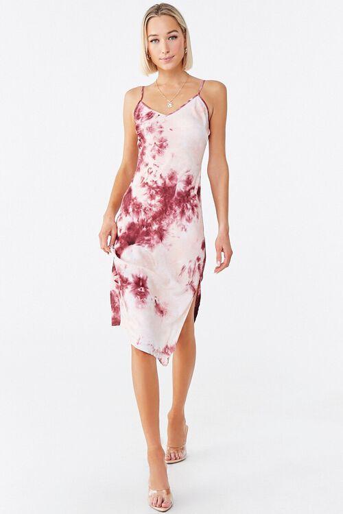 WINE/MULTI Tie-Dye Cami Dress, image 4