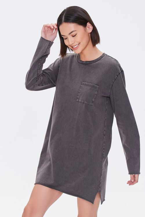 Long-Sleeve T-Shirt Dress, image 1