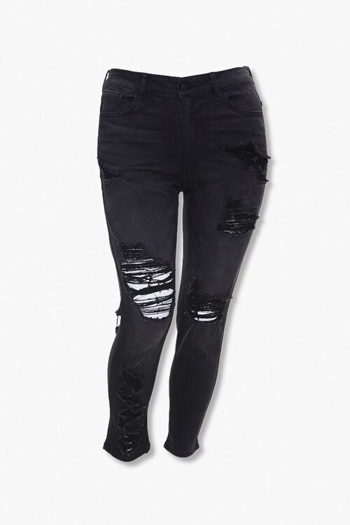 Plus Size High-Rise Jeans, image 1