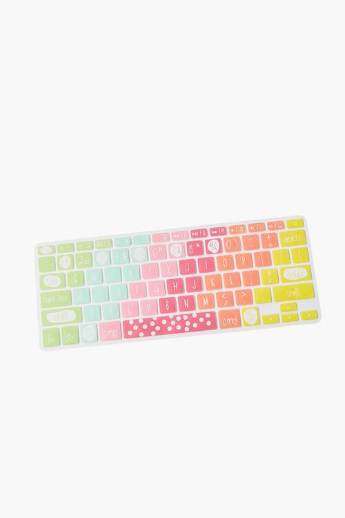 PINK/MULTI Rainbow Keyboard Cover, image 1