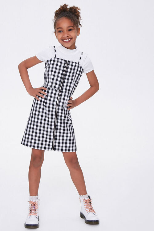 Girls Gingham Cami Dress (Kids), image 3