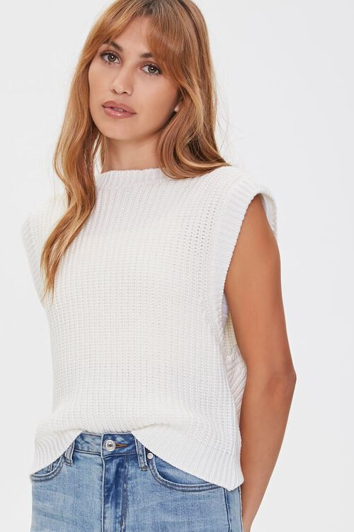Ribbed Sweater-Knit Vest, image 1