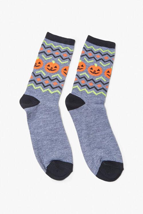 Jack-O-Lantern Crew Socks, image 2