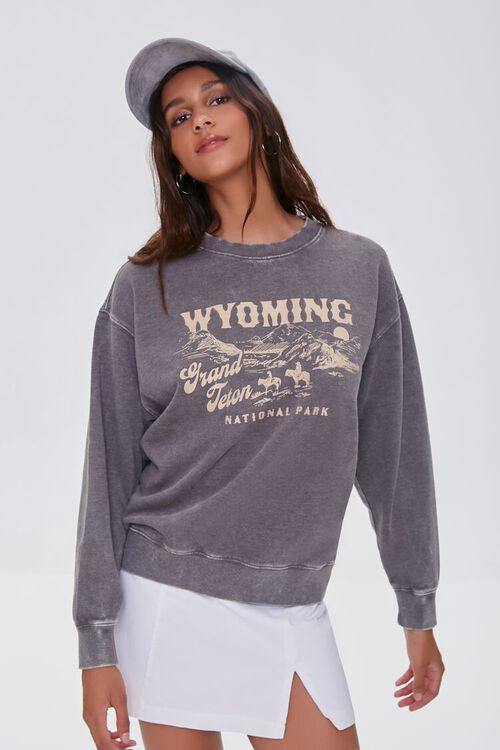 CHARCOAL/WHITE Grand Teton Graphic Pullover, image 5
