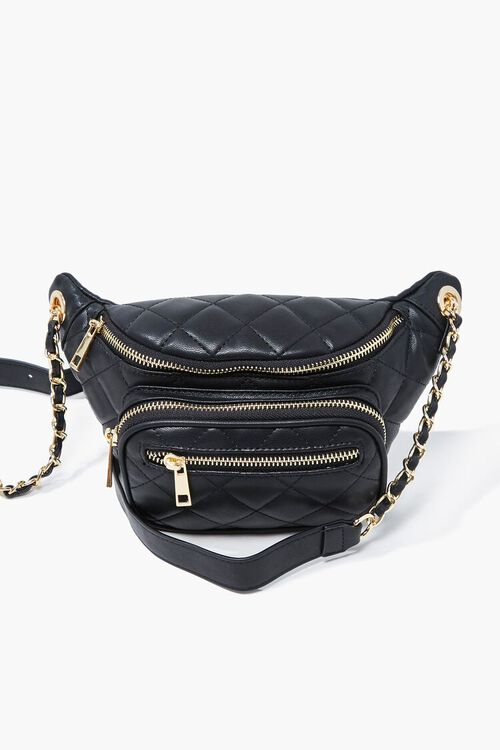 Faux Leather Quilted Fanny Pack, image 3
