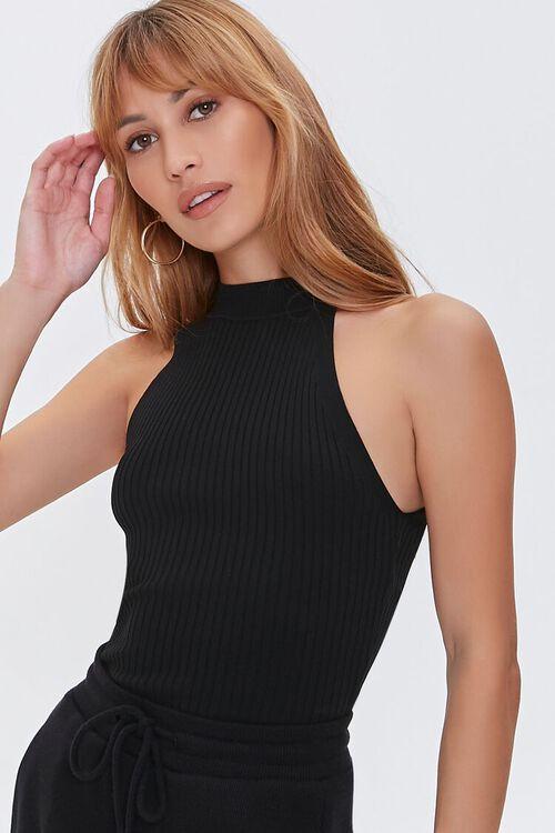 Sweater-Knit Racerback Top, image 1