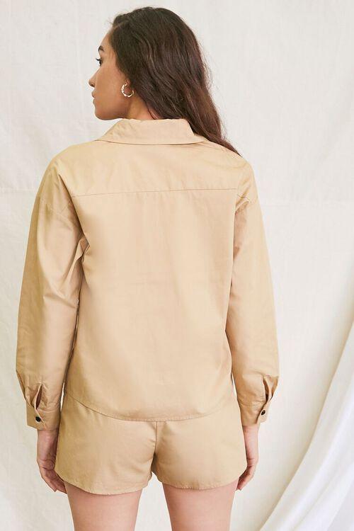 KHAKI Pocket Shirt & Drawstring Shorts Set, image 3