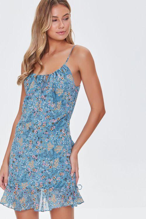 BLUE/MULTI Floral Print Cami Dress, image 1
