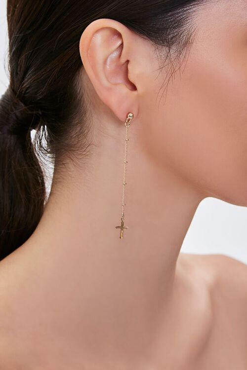 Cross Charm Duster Earrings, image 1