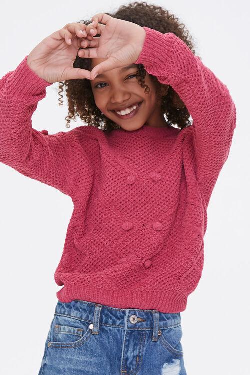 Girls Pom Pom Sweater (Kids), image 1