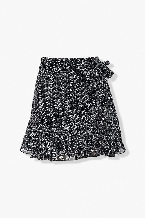 Dotted Ruffle-Trim Skirt, image 1