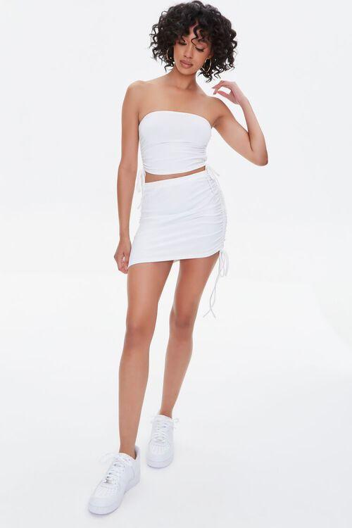 Ruched Drawstring Mini Skirt, image 5