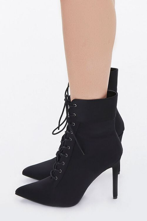 Lace-Up Stiletto Booties, image 2