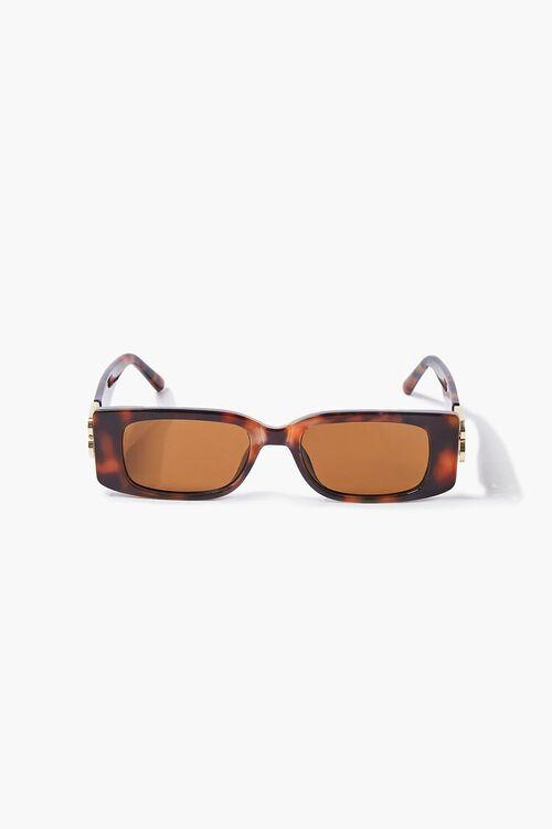 Tortoiseshell Rectangular Sunglasses, image 1