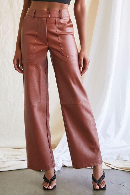 CHOCOLATE Coated Straight-Leg Utility Pants, image 2