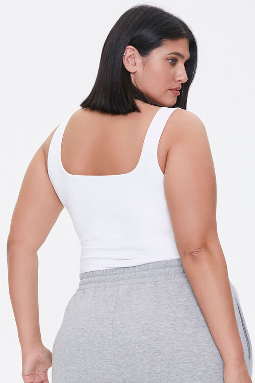 Plus Size Square-Neck Bodysuit, image 3