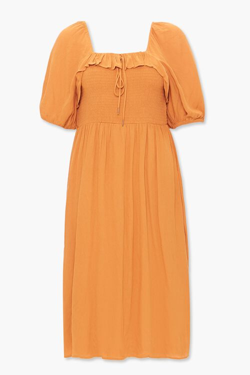 Plus Size Smocked Peasant Dress, image 1