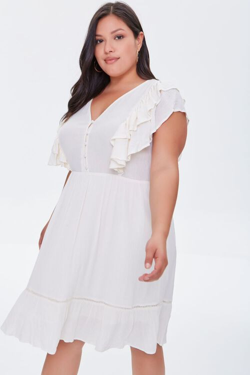 Plus Size Ruffled Mini Dress, image 1