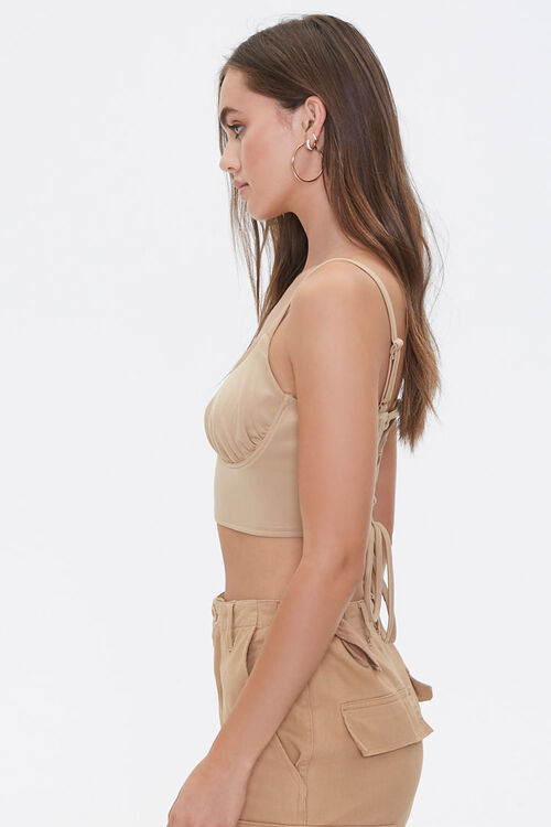 Lace-Up Cropped Cami, image 2
