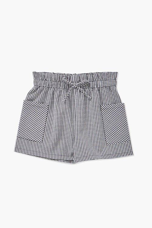Girls Gingham Drawstring Shorts (Kids), image 1