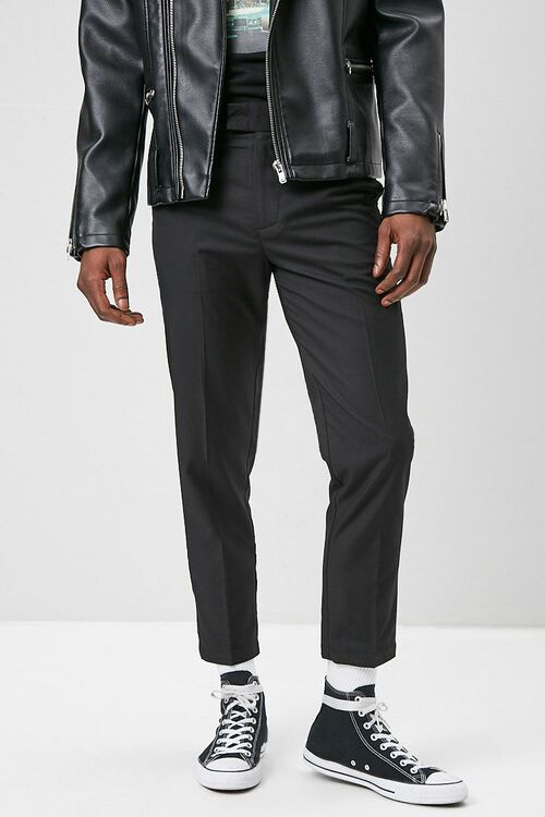 Slim-Fit Woven Trousers, image 1