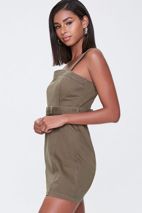OLIVE Belted Twill Mini Dress, image 2