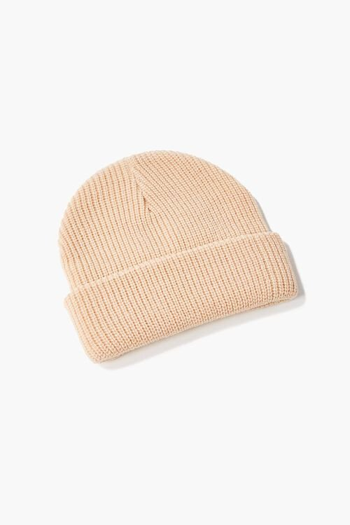 TAN/BROWN Reina Embroidered Beanie, image 2