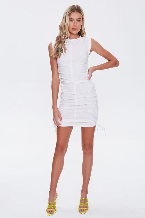 Ruched Drawstring Mini Dress, image 4