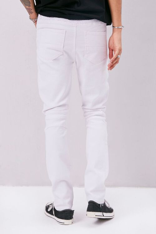 Distressed Moto Skinny Jeans, image 4