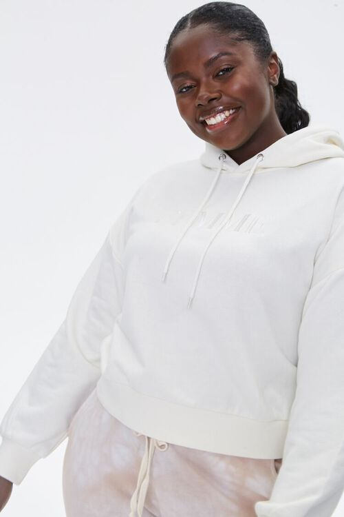Plus Size Femme Embroidered Hoodie, image 1