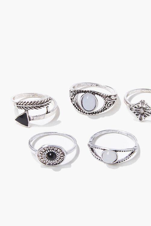 Engraved Boho Ring Set, image 3