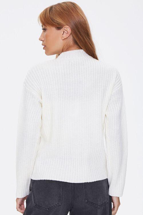 Ribbed Mock Neck Sweater, image 3