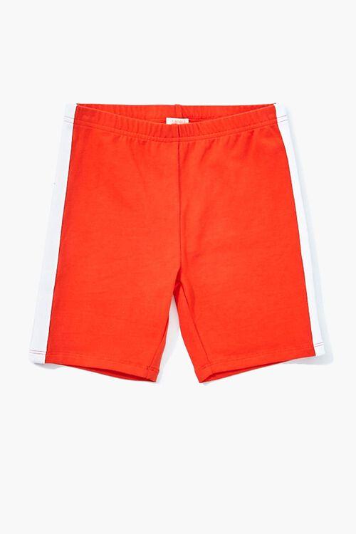 Girls Striped-Trim Biker Shorts (Kids), image 1