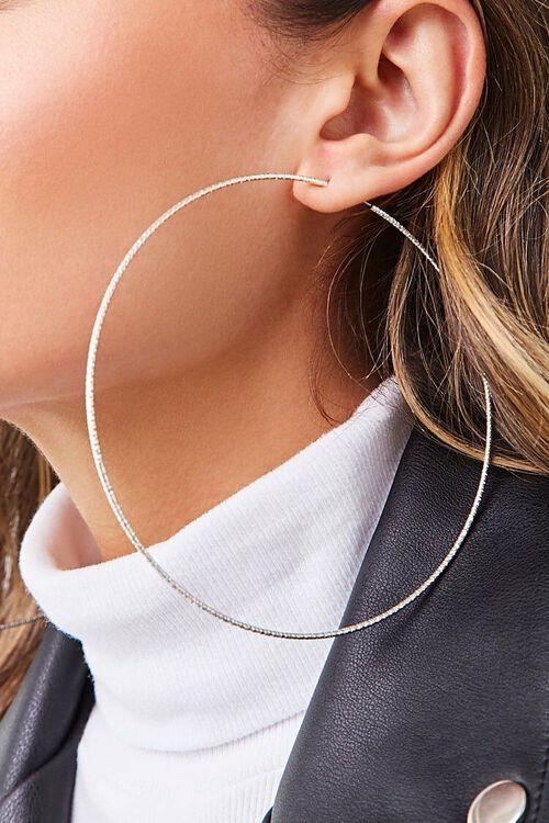 Shimmery Metal Hoop Earrings, image 2