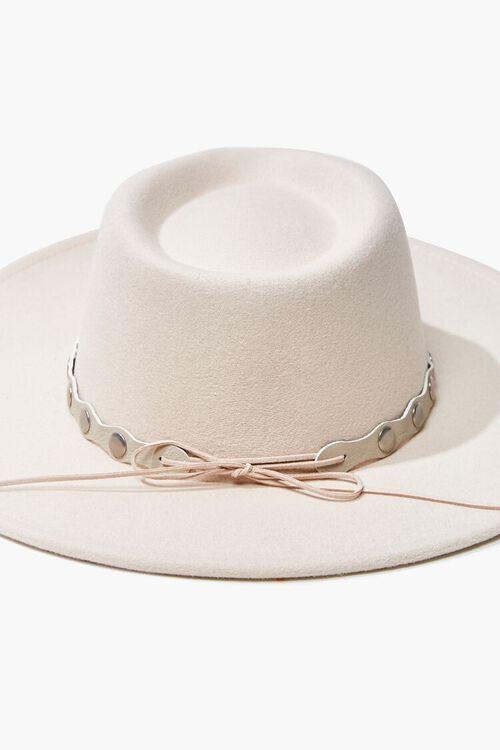 Studded-Trim Felt Panama Hat, image 4