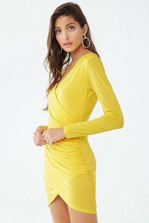 Surplice Tulip-Hem Mini Dress, image 2