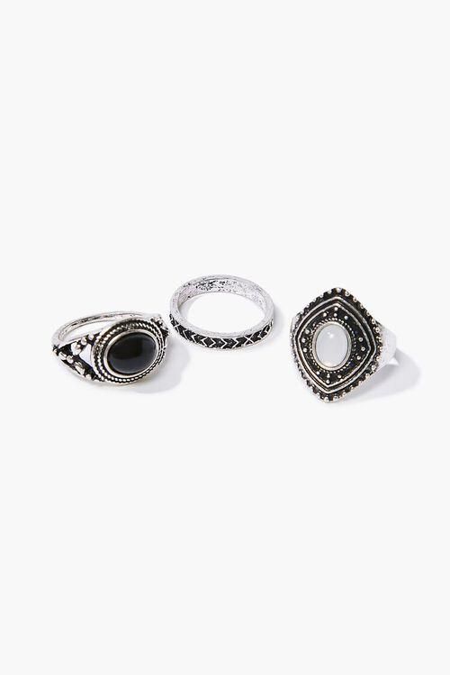 Faux Gem Ornate Ring Set, image 2