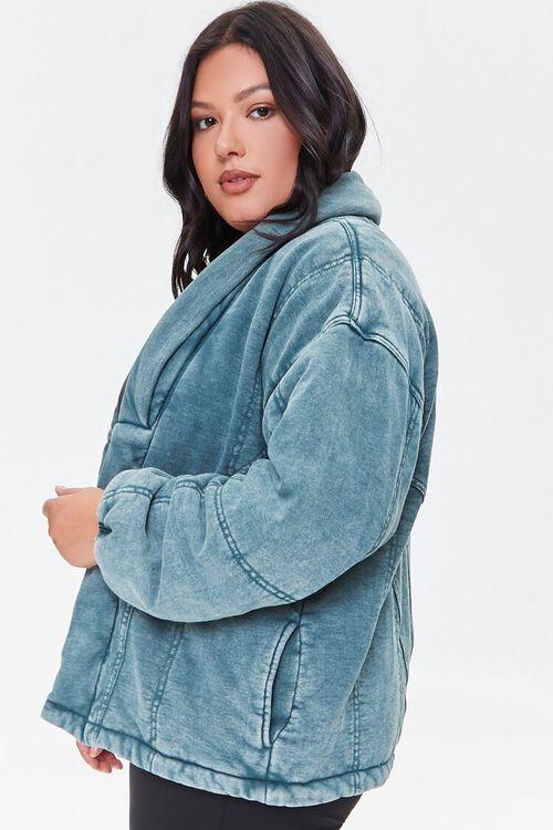 TEAL Plus Size Mineral Wash Jacket, image 2