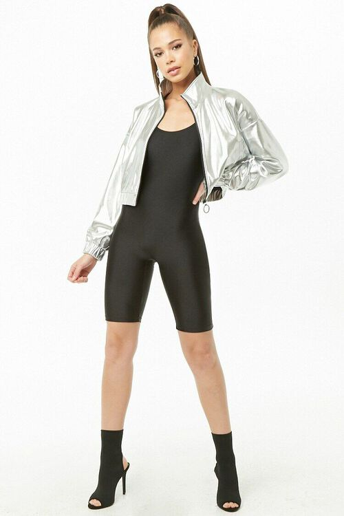 Metallic Cropped Jacket, image 4