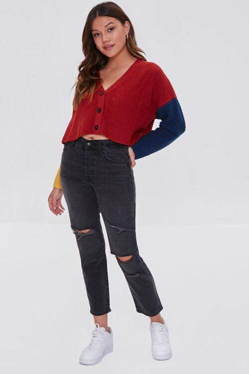 Colorblock Cardigan Sweater, image 4