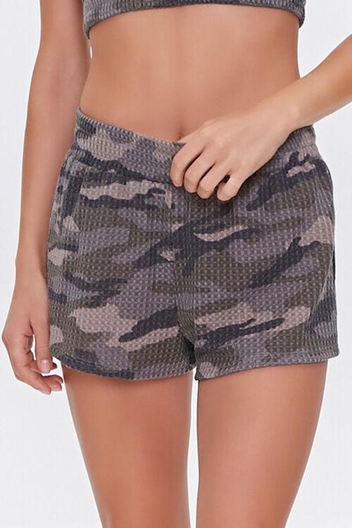 Camo Print Crop Top & Shorts Lounge Set, image 5