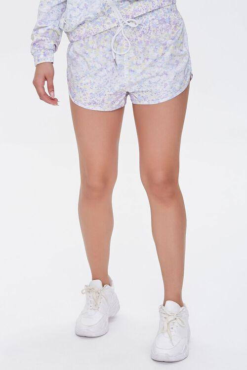 Active Floral Print Shorts, image 2