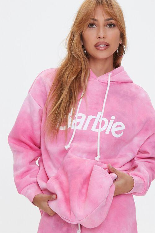 PINK/MULTI Tie-Dye Barbie™ Hoodie, image 1